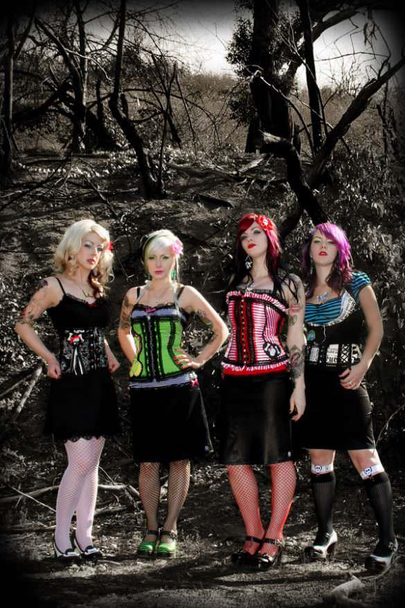 jessica louise styling punk girl band civet